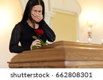 burial  people and mourning... | Shutterstock . vector #662808301