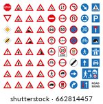 Traffic Road Signs Set Isolated ...