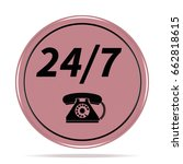 24 7 support phone icon.... | Shutterstock . vector #662818615