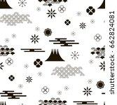 decorative seamless  pattern... | Shutterstock .eps vector #662824081