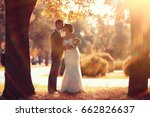 newlyweds groom and bride... | Shutterstock . vector #662826637