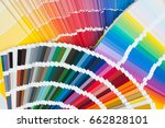 fans with color palette  guides ... | Shutterstock . vector #662828101