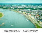 media harbor at rhine with... | Shutterstock . vector #662829109