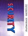 security word on blue neon... | Shutterstock . vector #66283132