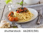 a spaghetti dish with... | Shutterstock . vector #662831581