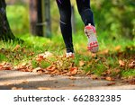 beautiful woman running over... | Shutterstock . vector #662832385