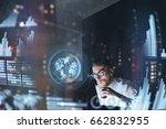 concept of digital diagram...   Shutterstock . vector #662832955