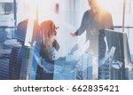 teamwork process.young team of... | Shutterstock . vector #662835421