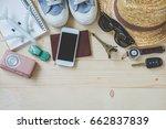overhead view of  traveler... | Shutterstock . vector #662837839
