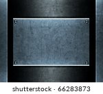 brushed aluminum metallic plate ... | Shutterstock . vector #66283873