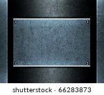 brushed aluminum metallic plate ...   Shutterstock . vector #66283873