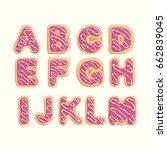 hand drawn latin alphabet in... | Shutterstock .eps vector #662839045