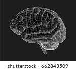 negative brain drawing side... | Shutterstock .eps vector #662843509