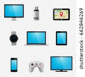 multimedia gadgets icons.... | Shutterstock .eps vector #662846269