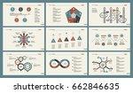 six economics slide templates... | Shutterstock .eps vector #662846635
