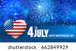 4 july independence day of... | Shutterstock .eps vector #662849929