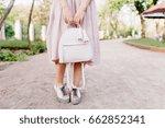 slim girl wearing trendy pastel ... | Shutterstock . vector #662852341
