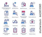 medical   health care icons set ... | Shutterstock .eps vector #662853385
