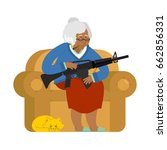 african american grandmother... | Shutterstock .eps vector #662856331