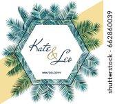 wedding invitation card... | Shutterstock .eps vector #662860039