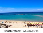 view on bat yam beach from... | Shutterstock . vector #662861041
