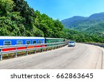 hai van pass   the famous road... | Shutterstock . vector #662863645