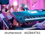 dancing couples during party or ... | Shutterstock . vector #662864761