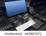 empty modern recording studio... | Shutterstock . vector #662867671
