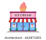 ice cream store icon vector... | Shutterstock .eps vector #662871001
