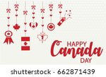 happy canada day greeting card... | Shutterstock .eps vector #662871439