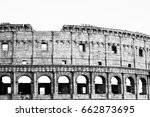 coliseum black and white   Shutterstock . vector #662873695