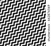 diagonal wavy lines seamless... | Shutterstock .eps vector #662876569