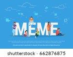 meme concept vector...