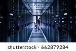 it engineer with crash cart... | Shutterstock . vector #662879284