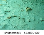 Flaky Green Paint On The Wall....