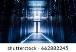 shot of a corridor in large... | Shutterstock . vector #662882245