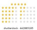 stars rating icon set.gold star ... | Shutterstock . vector #662885185