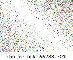 watercolor rainbow colored... | Shutterstock . vector #662885701