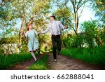 a young man with his girlfriend ... | Shutterstock . vector #662888041