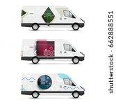 set of branding design... | Shutterstock .eps vector #662888551