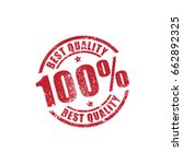 best quality printed stamp... | Shutterstock .eps vector #662892325