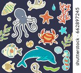 vector seamless pattern... | Shutterstock .eps vector #662897245