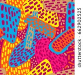 memphis style hand drawn... | Shutterstock .eps vector #662902525