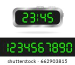 digital clock | Shutterstock .eps vector #662903815