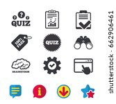 quiz icons. brainstorm or human ...