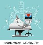 heart checkup   Shutterstock .eps vector #662907349