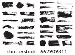 big set of vector black pen ink ... | Shutterstock .eps vector #662909311