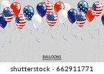 seamless realistic ballon... | Shutterstock .eps vector #662911771