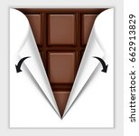 opening a chocolate bar with... | Shutterstock .eps vector #662913829
