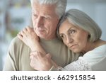 portrait of sad senior couple | Shutterstock . vector #662915854